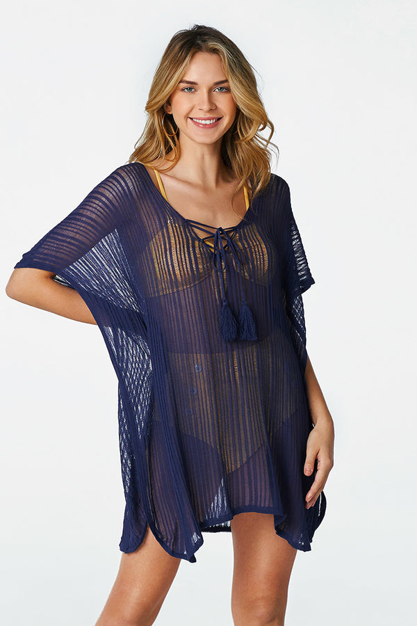 Sheer Navy Cover Up