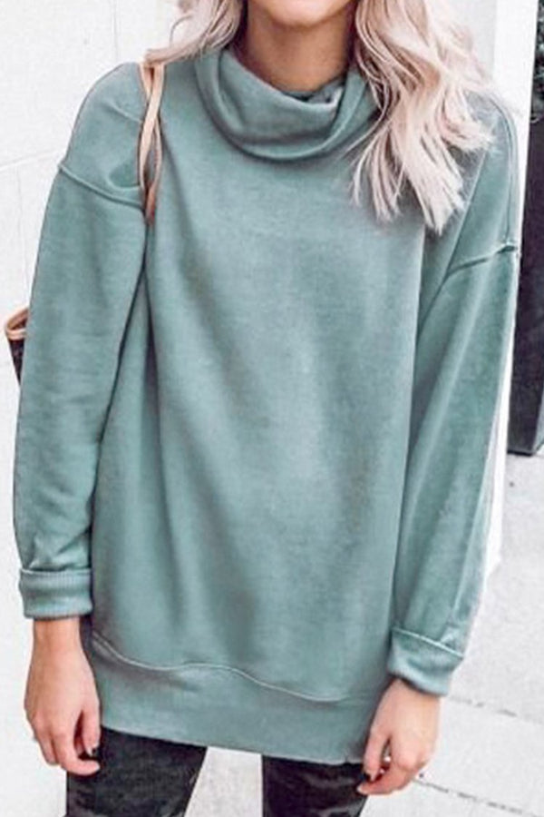 Silver Gray Turtle Neck Sweater