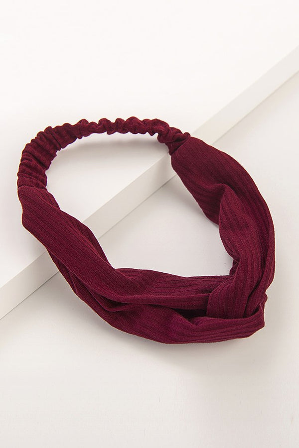 Wine Red Adjustable Headbands
