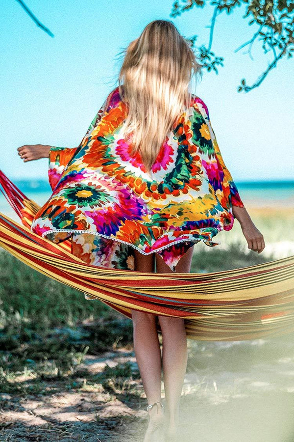 Colorful Floral Cover Up