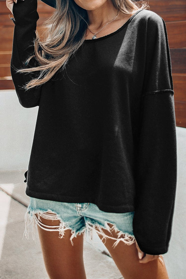 Black Loose Fit Sweater