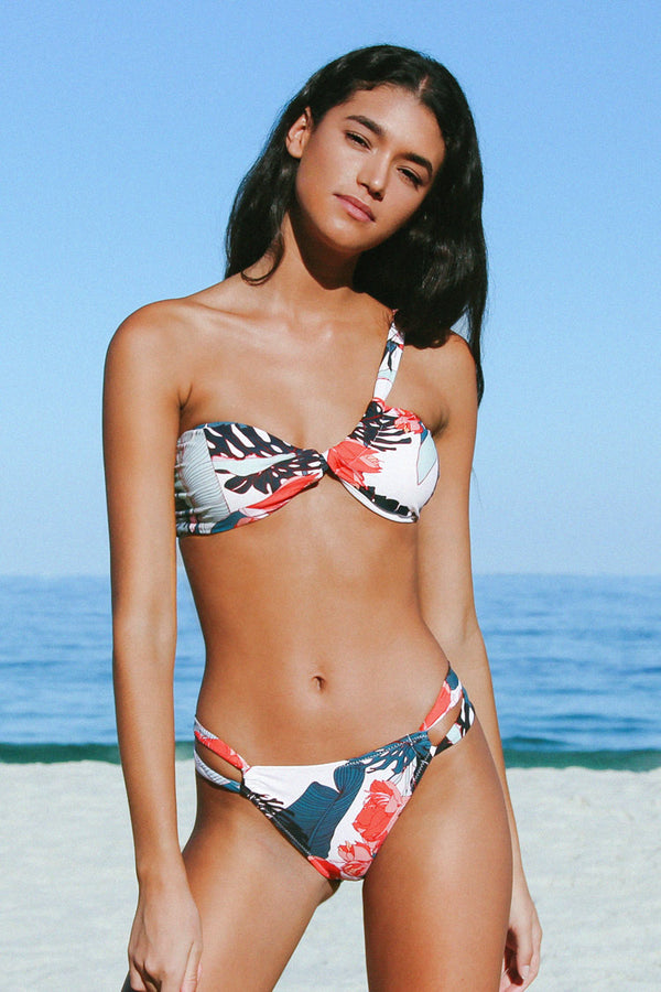 Marie Floral Side Cut Out Bikini Bottom