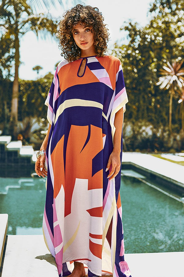 Color Block Maxi Cover Up