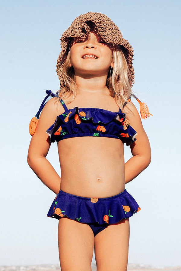 Sweet Cherry Ruffle Bikini For Toddler Girls and Girls