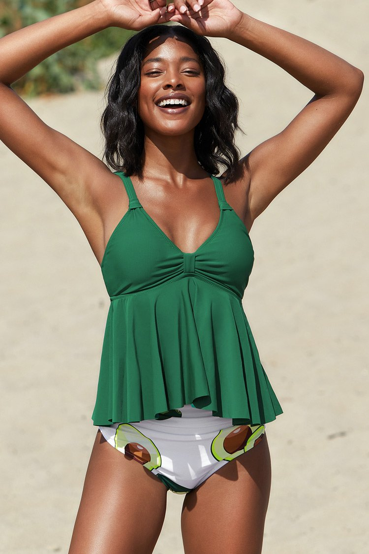Avocado High Waisted Tankini