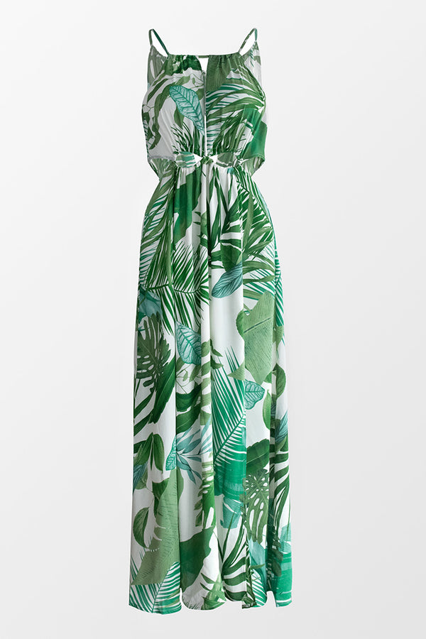 Noa Leafy Cutout Maxi Dress
