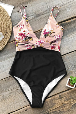 Pink Blossom Floral One-Piece Swimsuit