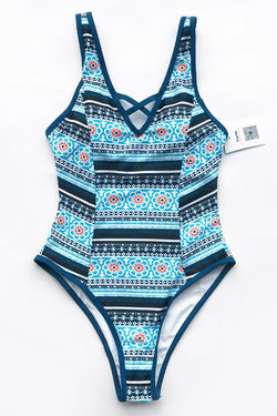 City Of Sky Print One-piece Swimsuit