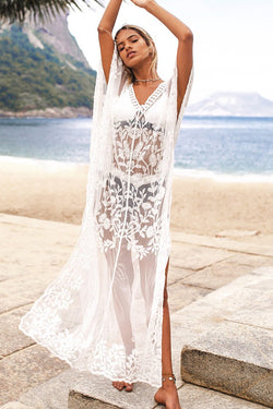 Embroidery Dolman Kaftan Cover Up