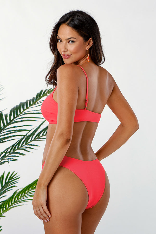 Neon Pink One Shoulder Bikini