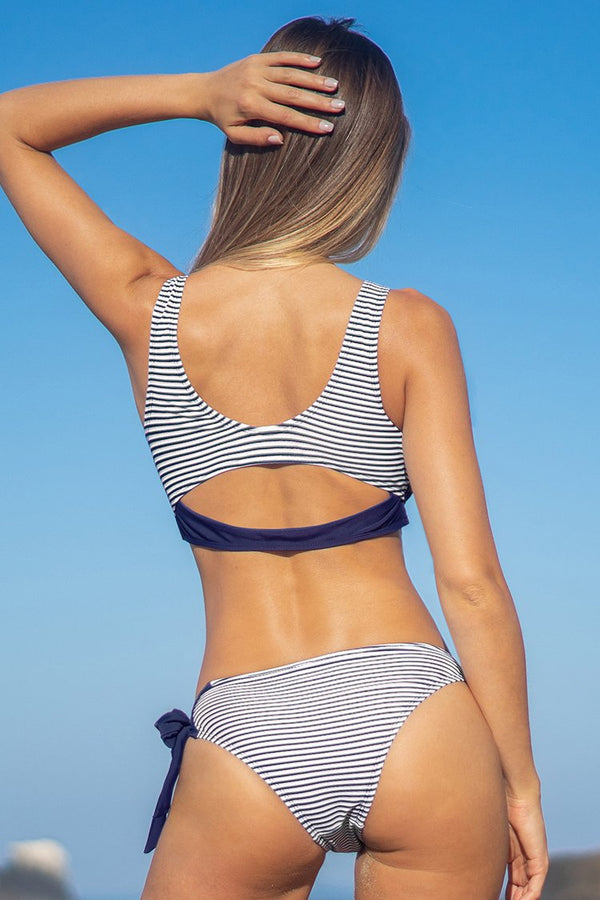Navy Stripe and Ties Bikini