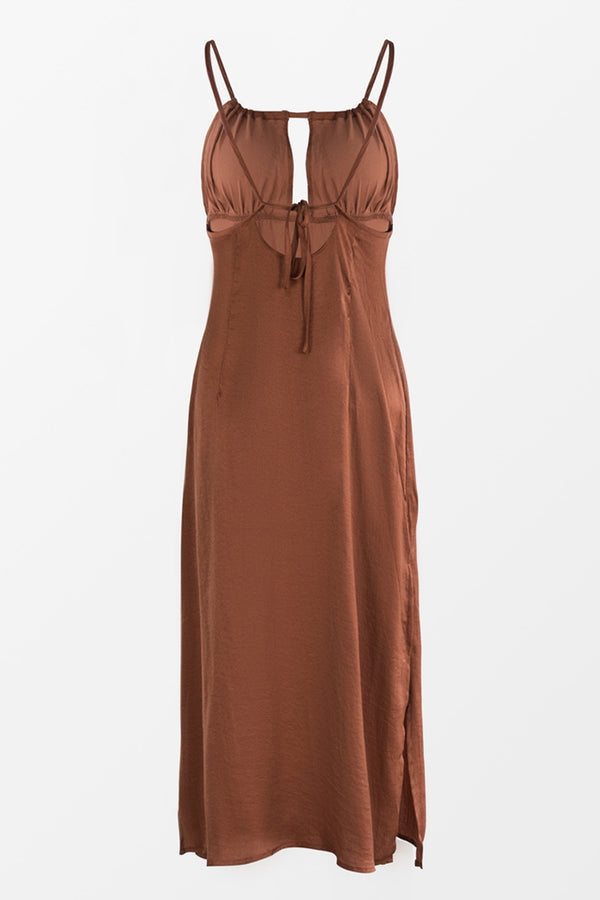 Caramel Slip Dress