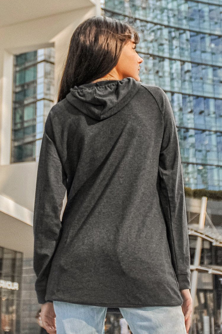 Gray Hoodie with Front Pocket