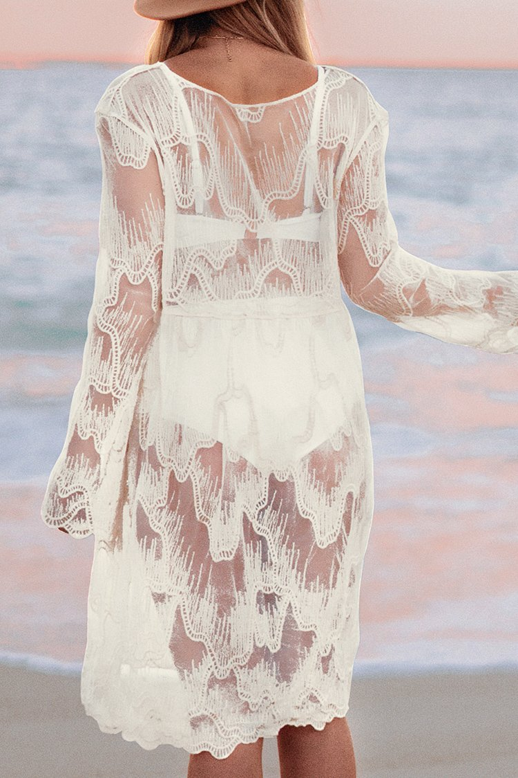 Patterned Sheer Cover Up