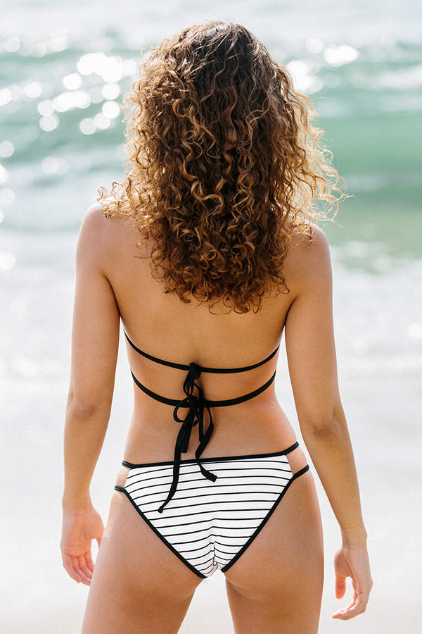 Black and White Strappy Bikini