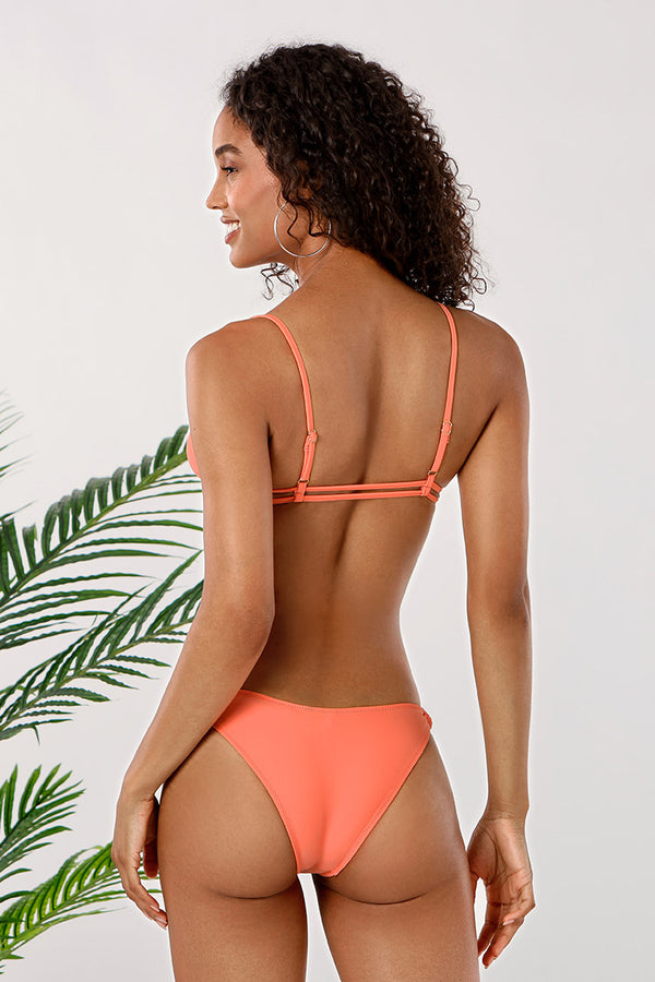 Peachy Strappy Low Rise Bikini
