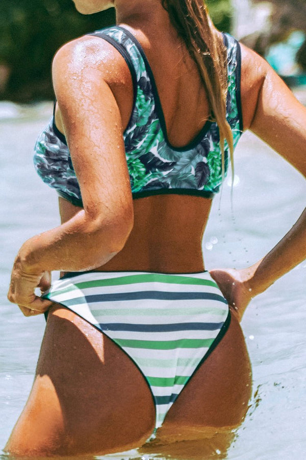 Palms and Stripes Bikini