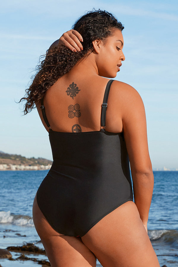 Blossom Floral Plus Size One Piece Swimsuit