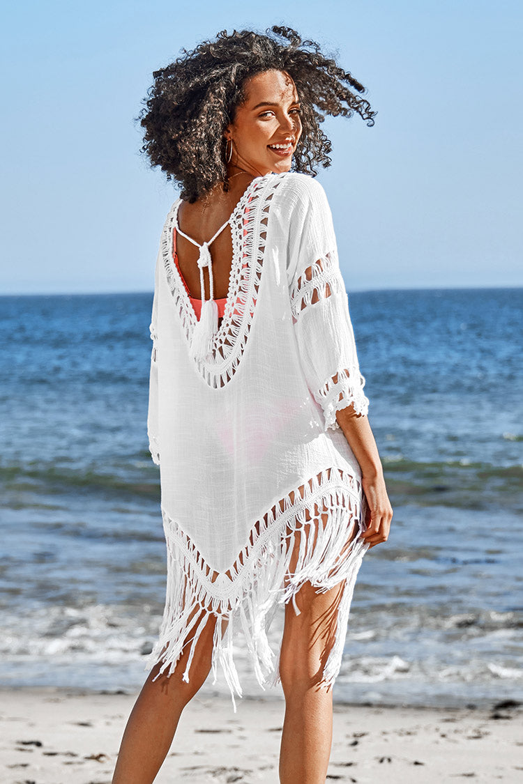 Crochet Tassel Cover Up