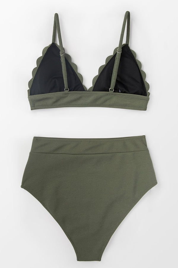 Olive Green High-Waist Bikini