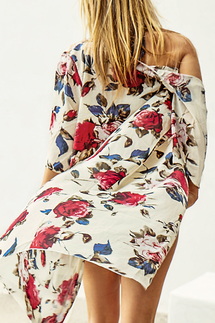 Sweet Afternoon Floral Print Cover Up