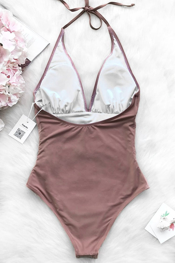 Dawn Mist Shirring One-piece Swimsuit