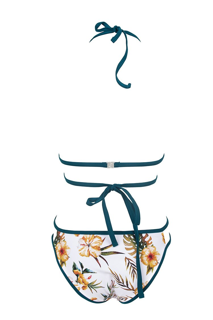 Tropical Hibiscus Triangle Bikini