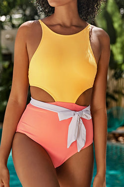 Summer Fun Color Block One-piece Swimsuit
