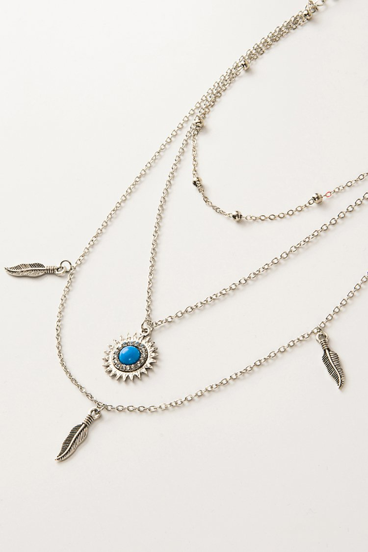 Silver Boho Layered Necklace