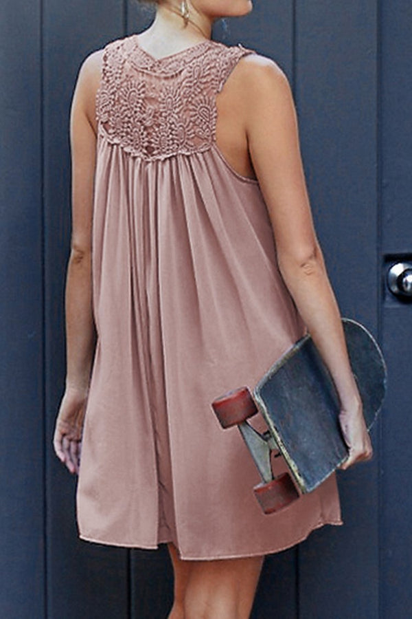 Pale Pinkish Purple Chiffon Dress