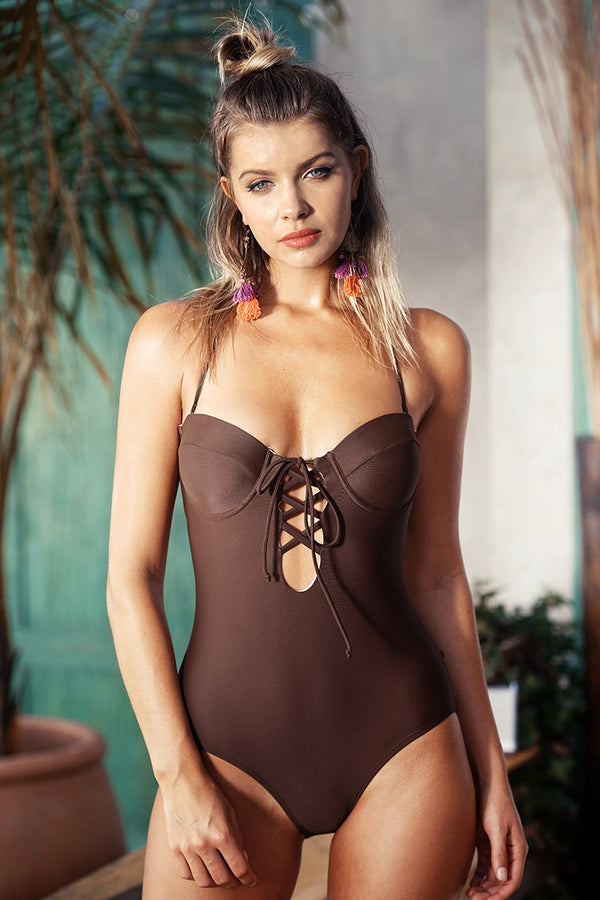 Slow Time Halter One-piece Swimsuit