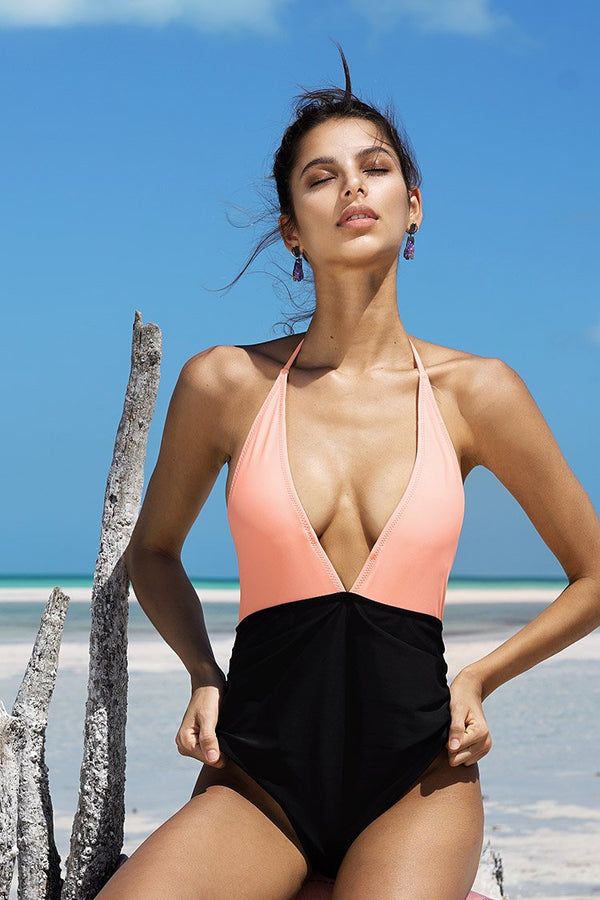 Fragrant Memory Halter One-piece Swimsuit