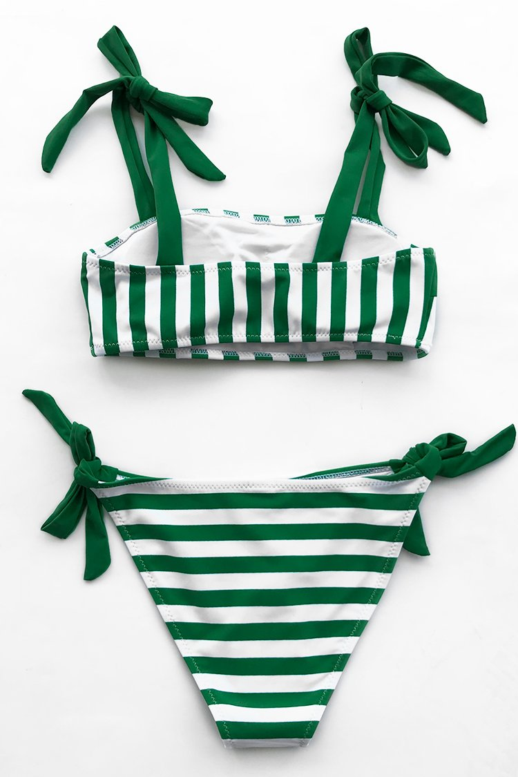 Express Your Joy Stripe Bikini Set
