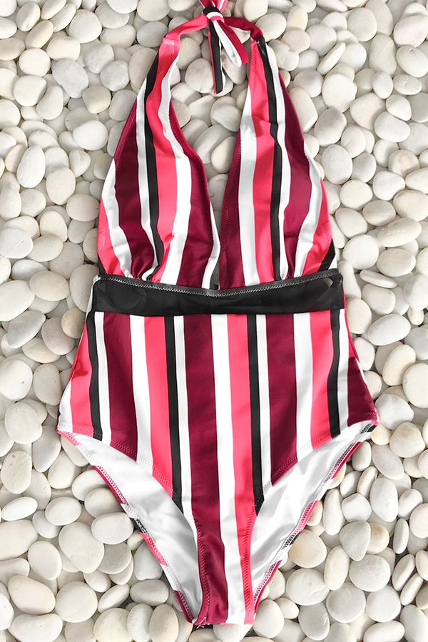 Cute Meet Mesh One-piece Swimsuit