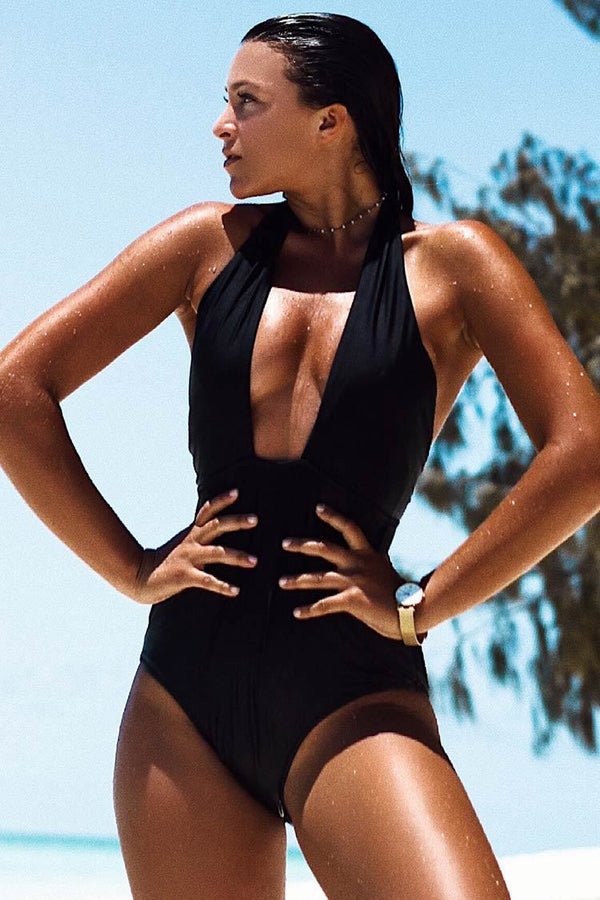 Eternal Mystery Solid One-piece Swimsuit