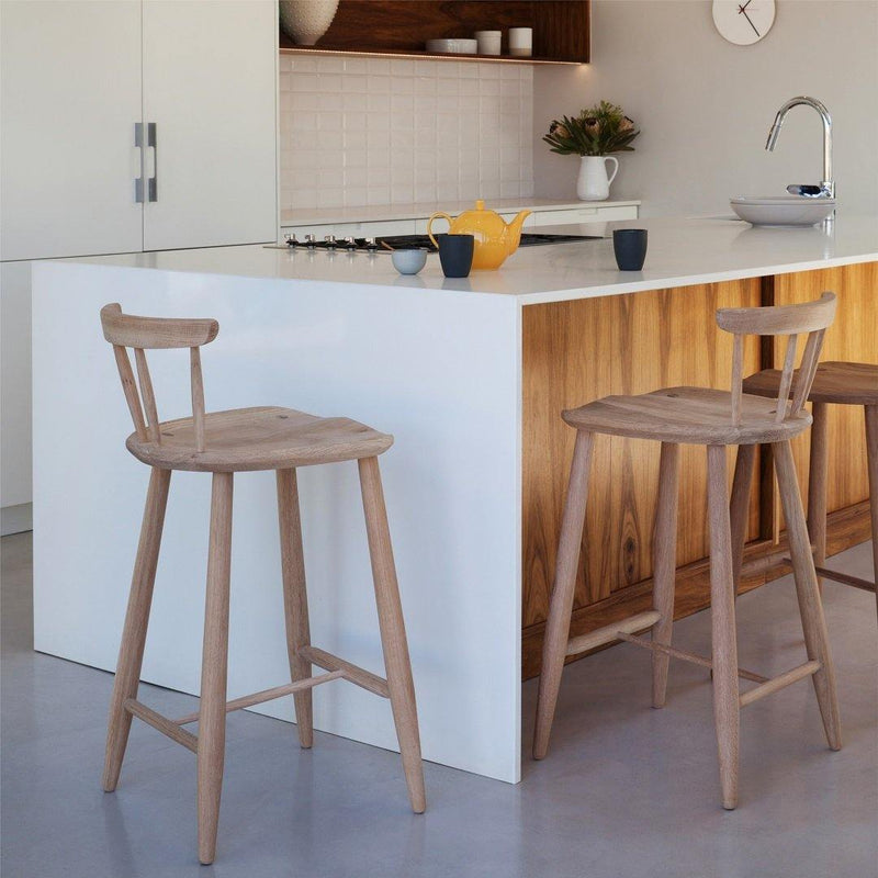 Nook Stool — with backrest