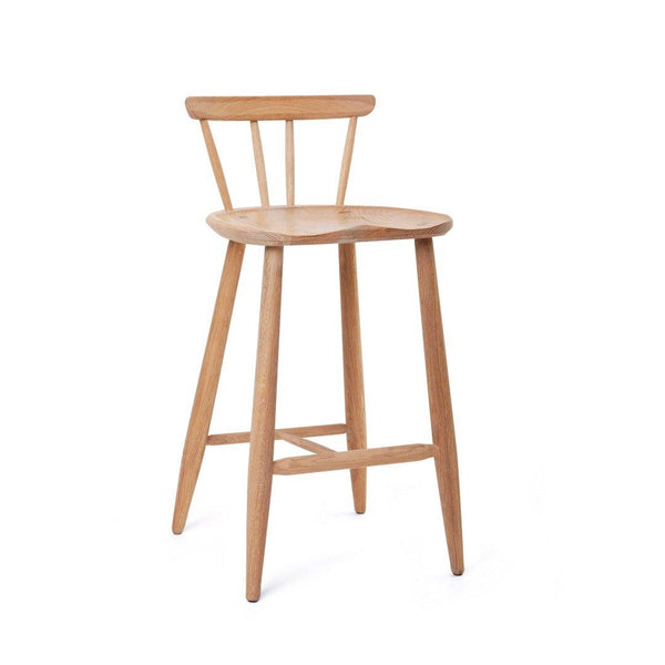 Nook Stool — with backrest - Houtlander