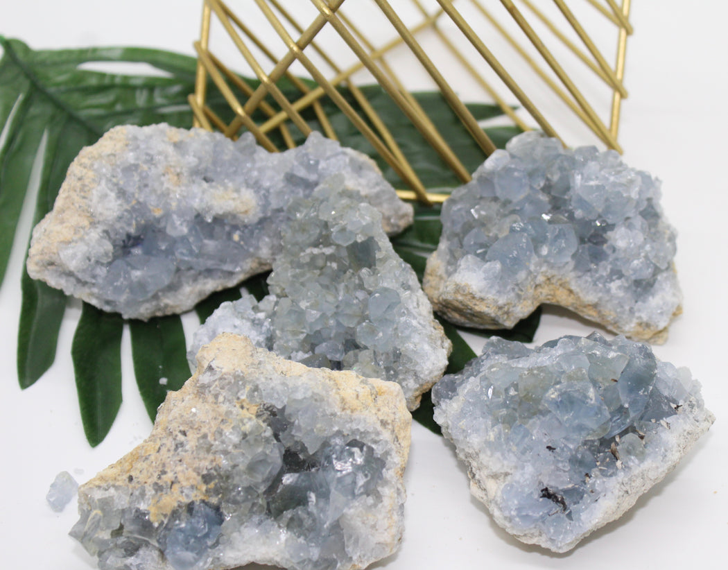 Rough Blue Calcite Clusters