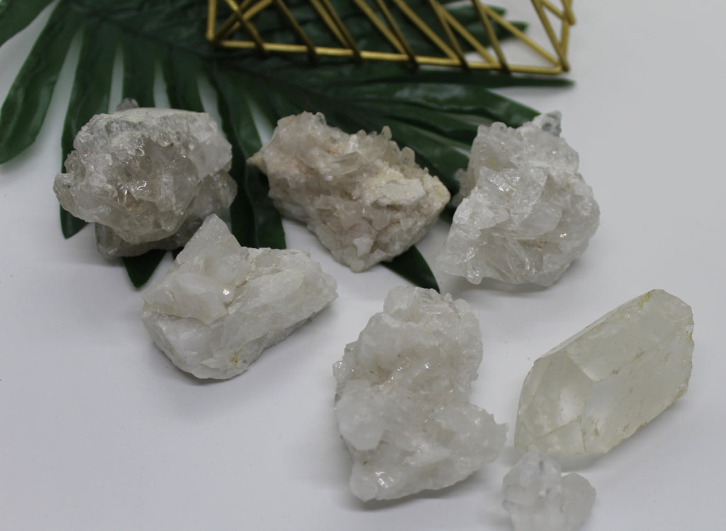 Raw Clear Quartz Clusters