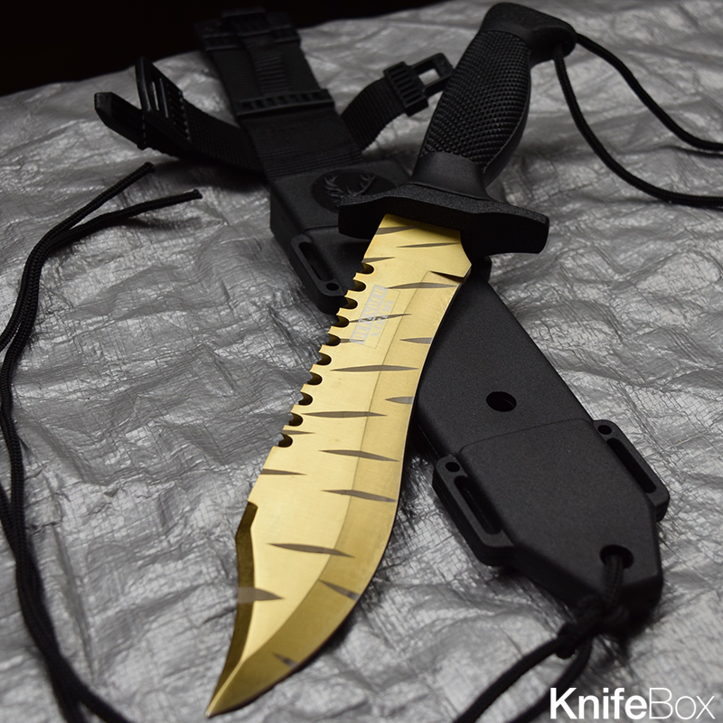 Tiger Tooth Bowie Knife