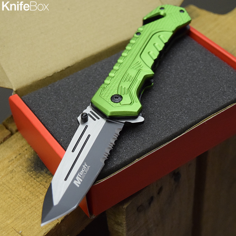 Green Tron Blade - August KnifeBox 2017