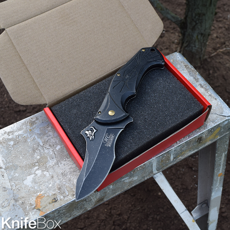Stonewashed Spring Assisted Blade - April KnifeBox 2017
