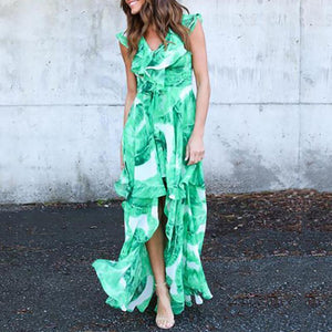 Printed Irregular Dress