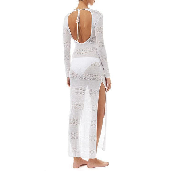 Sexy Hollow Backless Knitting Beachwear