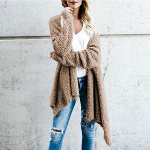 Irregular Two - Sided Long - Cut Cardigans