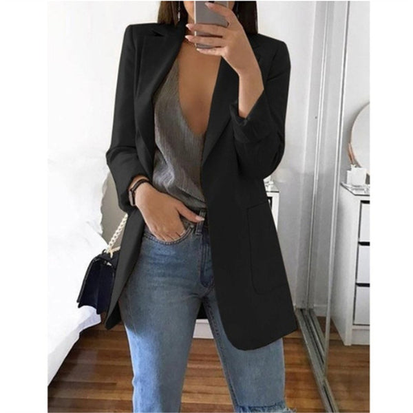 Fashion Temperament Suit Jacket Lapels