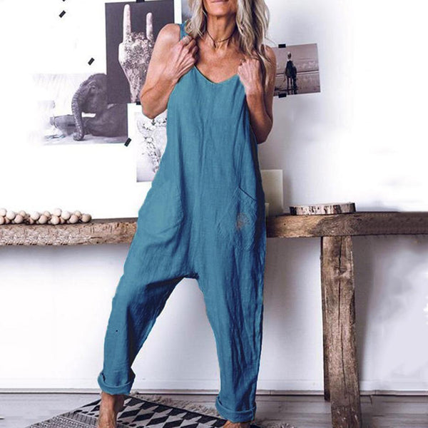 Loose Comfortable Sleeveless Casual Romper Jumpsuit