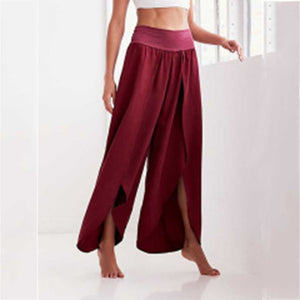 Split Casual Wide Leg Pants