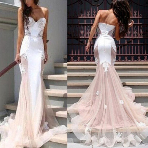 Halter Lace Splicing Evening Dress