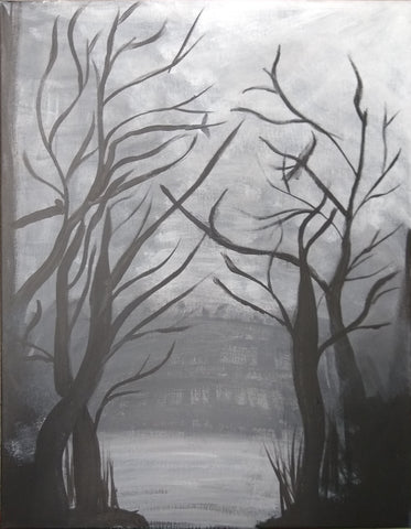 Dark Night- A 16x20 Stretched Canvas created by Shannon 137